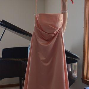 Peach Prom Dress (A Line Shape)